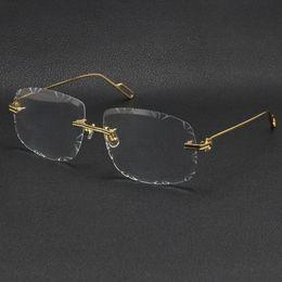 Ingrosso Vendita Uomo Donne Donne Occhiali da sole in metallo in metallo oro Telaio Eyewear Lunettes moda classico occhiali da vista di alta qualità Eyeglasses fotogrammi maschili e femminili modelli multiple