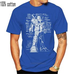 gundam shirt 2021 - polo 100% Cat O-neck Custom Printed T shirt Men Gundam Schematic-Gundam Women's T-shirt