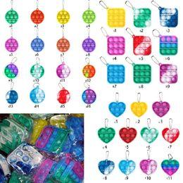Venta al por mayor de Fidget Simple Llavero Push Bubble Pop Toys Llavero Anti estrés DecomPresión Burbuja Tablero Llavero Dedo Dedo Venta 2021 H38NTD8