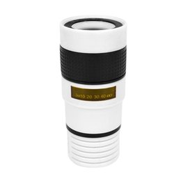 New best-selling black-and-white 8x 12x telephoto mobile phone lens zoom telescopic mobile phone external lens - 1