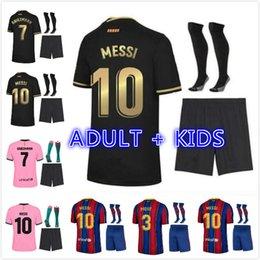 2021 Ansu Fati Messi Grisezmann de Jong Pjanic Coutinho Soccer Jersey Camisa de futebol 20 21 Esportes Barcelona Adulto Men + Kid Kit. em Promoção