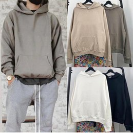 High Street Fashion Suede Hooded Hoodies Casual Super Dalian Hoodie Men and Women Hip Hop S-XL on Sale