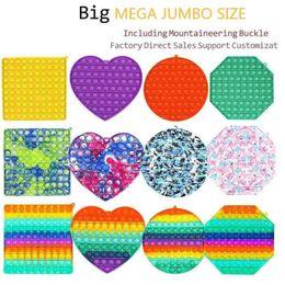 Mega Jumbo Gobang Bubble Poppers Board Fidget Sensory Push Finger Game Puzzle Toys Rainbow Tie Dye Large Size With Carabiner Key Ring H4237HX on Sale