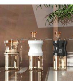 venda por atacado Moedor manual do feijão de café com a rebargem cerâmica ajustável para o café expresso, a imprensa francesa, a ferramenta turca do moinho da cozinha da bebida KDJK2104