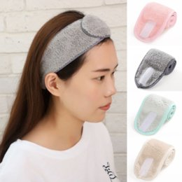 Wash Face Velcro Hair-Holder lady Hairbands Adjustable Makeup elastic woman hair band Soft Toweling Bath Cosmetic Headbands for Women Girl Accessories