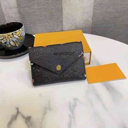 The 2021 Brief Paragraph Three Fold Change Purse Presbyopic Package Printing Leather Wallet, Hand Bag High Quality Wallets