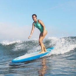 Wholesale Camping Survivals PVC 11 ft Blue gray surfboard 135 kg S001