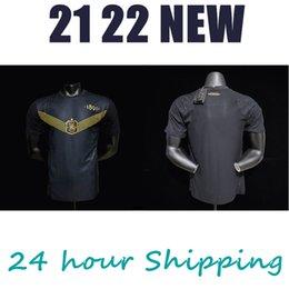 Player version 21 22 AIK Fotboll 130 Years men's Shirt Black golden soccer jersey on Sale