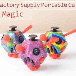 Wholesale Tiktok 12 Side infinity cube fidget toys rainbow solid magic infiniti Cubes kids adult sensory flip infinites finger fun stress relief ADHD poppers H412RJE