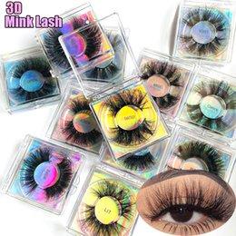 Wholesale 3D Mink Dramatic 27MM False Eyelashes Wispy Fluffy Long Eyelashess Extension Criss-cross Handmade Lash Makeup Beauty Tools
