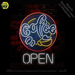 coffee neon open sign Australia - NEON SIGN For Coffee Neon Art Sign Open Light Custom Design Restaurant Shop Light neon signs for sale signs made to order