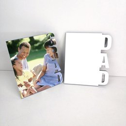 Venta al por mayor de Sublimación Marcos de fotos MDF 3 estilos Crafts Sublimación en blanco Gradilla Imagen Rahmen para madres Padres Día Regalos Decoración de escritorio 665 S2