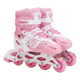 Wholesale Girls Adjustable Inline Skates With Light Up Wheels Beginner Fun Flashing Roller For Kids Boys And &
