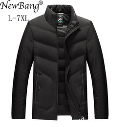 Wholesale down feather jackets for men resale online - Newbang Brand xl xl xl Plus Winter Jacket Man Duck Down Warm Thick Feather Parka for Men Outwear Large Size Coat