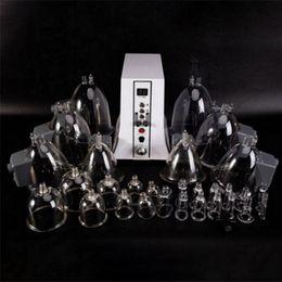 Vacuum Thérapie Body Minceur Ground Buttocks Fesses de levage Pompes de levage - Vaccum Aspiration Agrandissement Machine Lymphatique Drainage avec 35 tasses en Solde