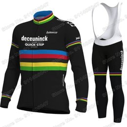 Wholesale Racing Sets Quick Step Cycling Clothing Jersey Set Road Bike Suit Bicycle Pants MTB Maillot Cyclisme Ropa
