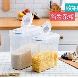 Großhandel Küchenkunststoffdichtungskanne Kornspeicherdosen Drücken Sie die Taste, um mit einem Skalenschutzschachtel zu halten