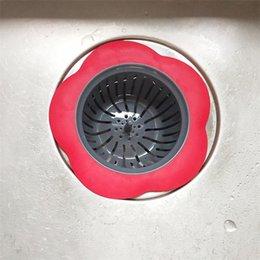 Silicone Kitchen Sink Strainer Flower Shaped Shower Sink Drains Cover Sink Colander Sewer Hair Filter Kitchen Accessories 607 R2 on Sale