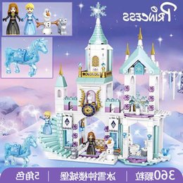 Wholesale ice castles for sale - Group buy Assembled toys Compatible with Lego building blocks girls puzzle children s ice and snow Wonderland Princess Dream Villa castle series toys