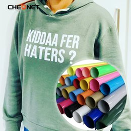 Wholesale 30cmx100cm Decorative Stickers PVC Heat Transfer Vinyl T-shirt Iron On HTV Printing