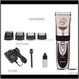 Discount dog shavers Professional Pet Dog Electric Scissor Clipper Animal Grooming Clippers Cat Cutter Machine Shaver 110240V Ak1C0 Nskqe