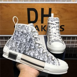 Top Quality Designers Shoes b 23 Oblique Technology Canvas Trainers Sneakers Men Women Fashion Breathable Outdoor Platform Flat Casual Trainer Sneaker With Box