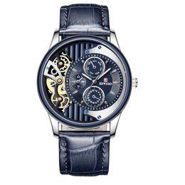 Wristwatches 2021 Student Sports Watch Concept Męski Pas Wodoodporny Kwarcowy Moda Biznes Klasyczny