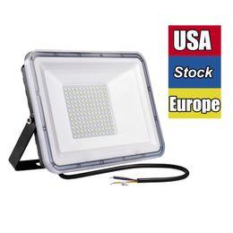 Luz de inundação LED, luzes de segurança, Holofote ao ar livre ip66 à prova d'água, 300W 200W 100W 50W 30W 10W 6500K Branco frio para jarda, jardim, campo de jogos, quadra de basquete em Promoção