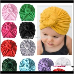 kids turban hat UK - Accessories Infant Kids Born Baby Turban Knotted Wrap Headbands India Hats Beanie Cotton Blend Hair Cap Children Girl Boy Head Band1 0 Np52V