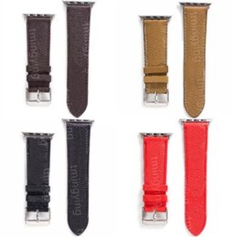 Подарочный дизайнер Top Riss Bands Band Band Band 42 мм 38 мм 40 мм 44 мм Iwatch 1 2 3 4 5 6 полосы Кожаный ремешок браслет модный браслет принты для печати на Распродаже