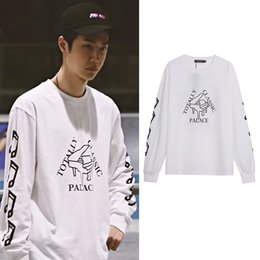 palace skateboards 2021 - Wang Yibo's same clothes: Palace piano print street fashion brand skateboard casual loose long sleeve sweater for men and women