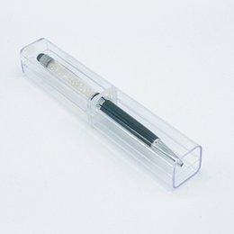 Cas en plastique unique mignon pour stylo de gel à bille cristal Billets de bureau School Fournitures de cadeaux de mariage en Solde