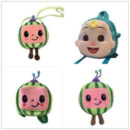 Cocomelon JJ Boys tecknad Gullig plysch ryggsäck Barnens babybagsväska Vattenmelon Mini Girls Shoulders Väskor Crossbody Bag Paket för barn Totes G61Expy