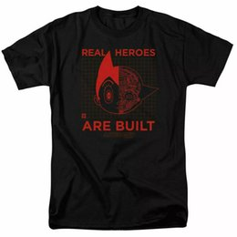 Wholesale astro shirt resale online - Astro Boy Real Hero T Shirt Mens Licensed Cartoon Real Heroes Are Built Black