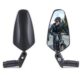 Bike Groupsets 1pc Safety Mountain Bicycle Mirror Rear View Handlebar Cycling Wide Angle 360 Degree Rotatable Stainless Steel Portable on Sale