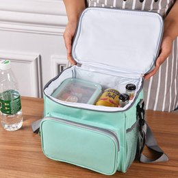 beer fridge wholesale UK - outdoor camping picnic bag Ultralight Portable family picnic basket cooler box ice box children's school lunch bag beer fridge HHF6289