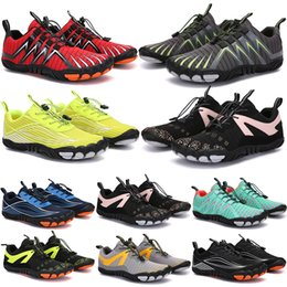 Wholesale 2021 Four Seasons Five Fingers Sports shoes Mountaineering Net Extreme Simple Running, Cycling, Hiking, green pink black Rock Climbing 35-45 color3