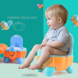 Wholesale 3 Colors Cute Pumpkin Style Designer Toilet Seat for Children with High Quality Children's Training Device