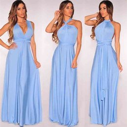 Wholesale wrap maxi dresses resale online - Sexy dress Multiway Wrap Convertible Boho Maxi Club Red Dress Bandage Long Dress Party Bridesmaids Infinity Robe Longue Femme