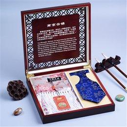 Kina stil souvenir karakteristisk gåva nanjing yunjin scarf tie kostym kreativ verksamhet utomlands