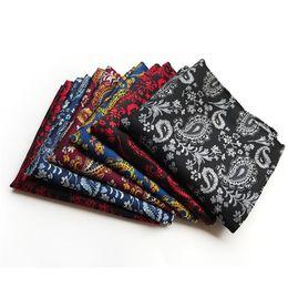 Ingrosso 3pcs handkerchief da uomo quadrato asciugamano Poliestere Pomked Mocket Fashion Suit Tuta tascabile Asciugamani formale ACCHIO ACCHIATO Geometria