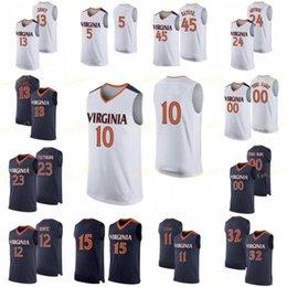 Austin Katstra Virginia Cavaliers Final Four Basketball Jersey - Navy