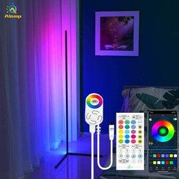 Lâmpada de chão LED WiFi Bluetooth Remoto RGB Canto Canto Luz Luz Lâmpadas De Iluminação Compatível Com Alexa Echo Google Home em Promoção
