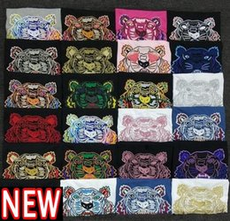 Wholesale coolest shirts resale online - Summer Tee Ins Tiger head Embroidery T shirt women designers clothes Mens designer t shirt Fashion Cool Couples Casual Tshirt Asian size S XXL