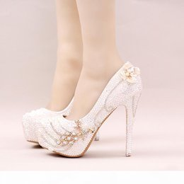 sparkle rhinestone UK - 2019 Sparkling Rhinestone Bridal Shoes Stiletto Heel White AB Crystal Wedding Party Shoes Bling Bling Prom Pumps Cinderella Shoes