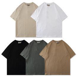 21SS Designer Tide T-shirts Borstbrief Gelamineerde print Korte mouw High Street Losse Oversize Casual T-shirt 100% puur katoen Tops voor mannen en vrouwen