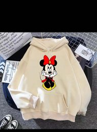 mouse fashion Australia - jackets Mouse Hoodies Cartoon Tops Long Sleeve Pockets Sweatshirts Fashion Hooded Women