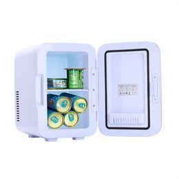6L маленький электрический мини-портативный холодильник холодильник холодильников для оптовых кулеров холодильники теплые (0.21 CUFT / 8 CAN) AC / DC серый на Распродаже