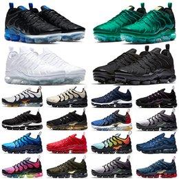 Nike air vapormax tn plus Mens Frauen Laufschuhe TRUE Gelb Dreifach Schwarz Weiß Hyper Red Männer Designer Trainer Sport Sneaker Größe 5.5-11 im Angebot