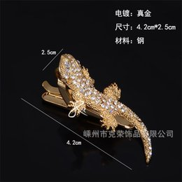 Yoursfs Gecko Tie Clips for Men Silver Color Handcrafted Silver Curled Lizard Guy Prom Groom Wedding Mans Reptile Gift622 T2 on Sale